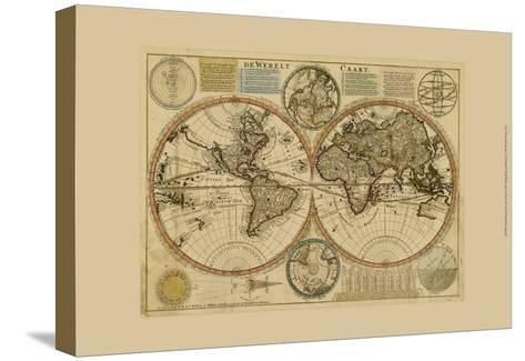 Dewerelt Caart Map--Stretched Canvas Print