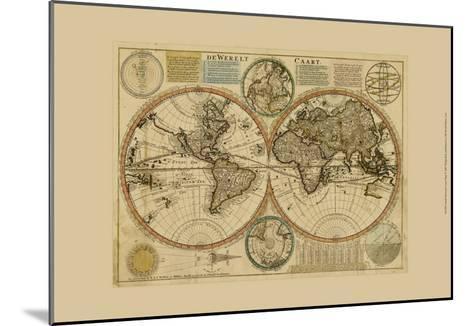 Dewerelt Caart Map--Mounted Art Print