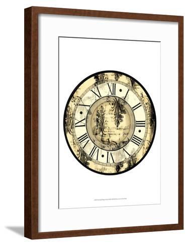Aged Elegance Clock--Framed Art Print