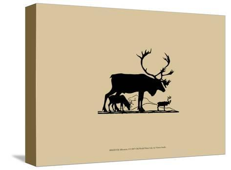 Elk Silhouette I--Stretched Canvas Print