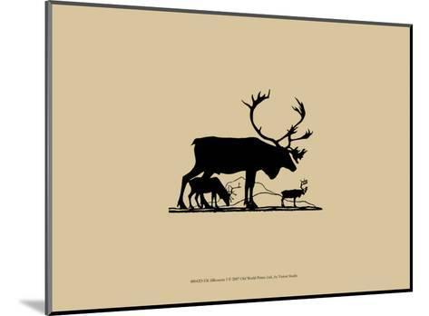 Elk Silhouette I--Mounted Art Print