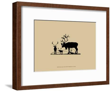Elk Silhouette II--Framed Art Print