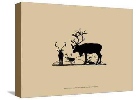 Elk Silhouette II--Stretched Canvas Print