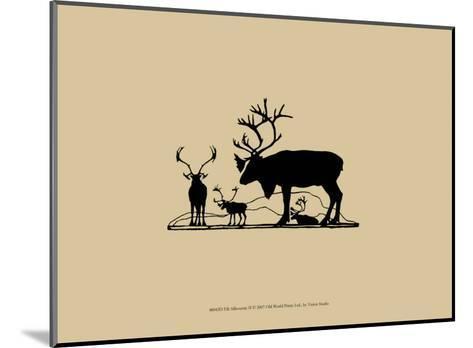 Elk Silhouette II--Mounted Art Print