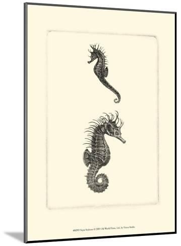 Sepia Seahorse--Mounted Art Print