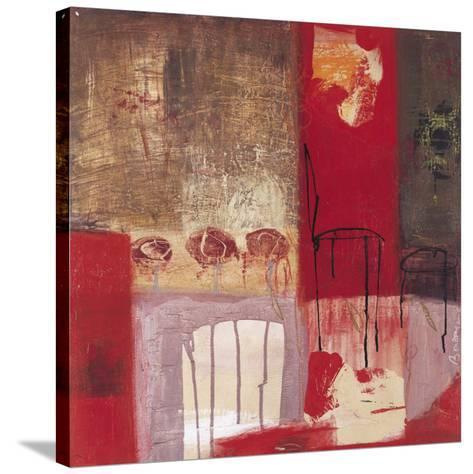 La Chaise et le Tabouret-Jocelyne Bonzom-Stretched Canvas Print