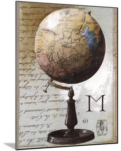 Globe-Gouny & Marange-Mounted Art Print