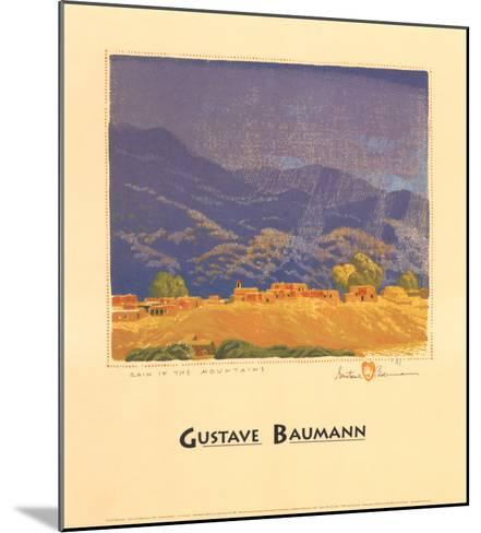 Rain in the Mountains-Gustave Baumann-Mounted Art Print