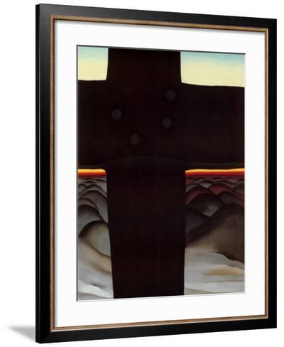 Black Cross New Mexico-Georgia O'Keeffe-Framed Art Print