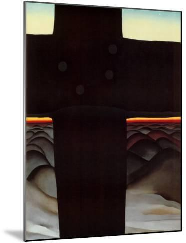 Black Cross New Mexico-Georgia O'Keeffe-Mounted Art Print