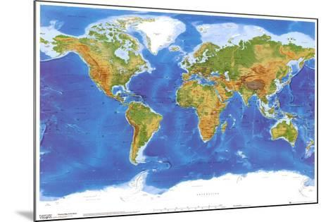 Satellite Physical Map of The World--Mounted Poster