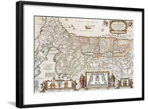 The Promised Land for the Sons of Israel, c.1663-Nicholas Visscher-Framed Art Print