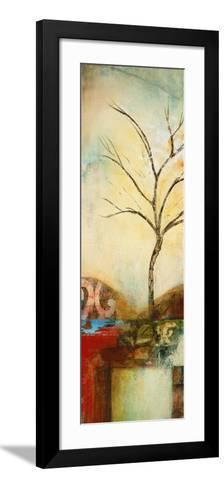 Ochre Landscape I-Eduardo Lazo-Framed Art Print