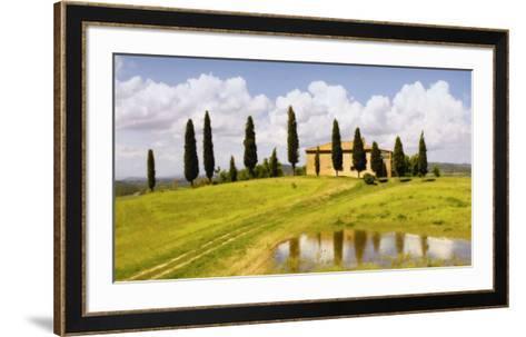 Tuscan Hillside no. 5-Jim Chamberlain-Framed Art Print