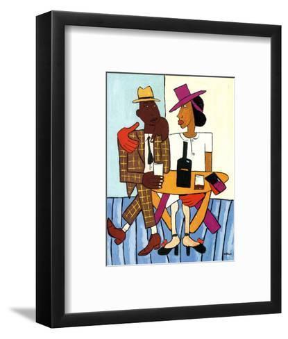 Cafe-William H^ Johnson-Framed Art Print