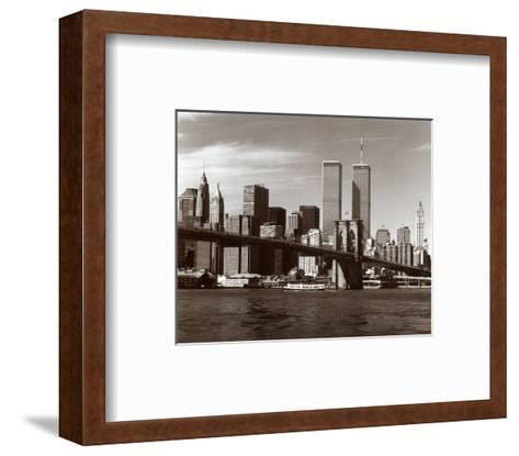 Over the Brooklyn Bridge-Walter Gritsik-Framed Art Print