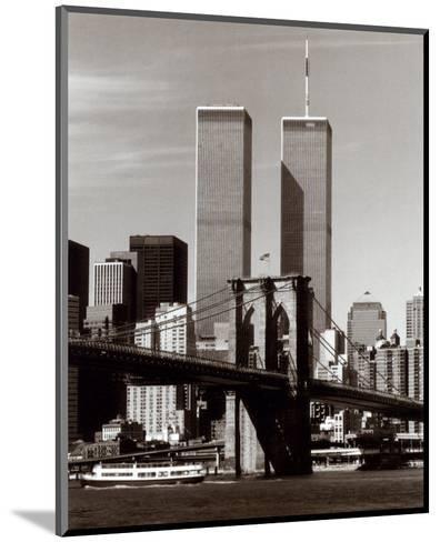 World Trade Center and Brooklyn Bridge-Walter Gritsik-Mounted Art Print