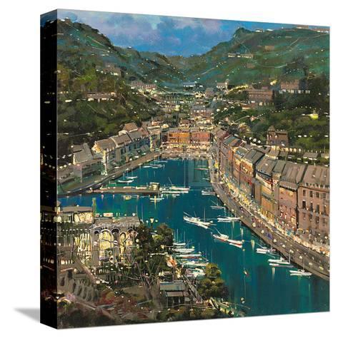 Portofino Twilight-Mario Sanzone-Stretched Canvas Print
