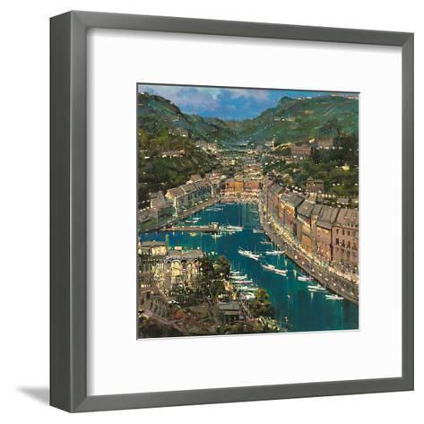 Portofino Twilight-Mario Sanzone-Framed Art Print