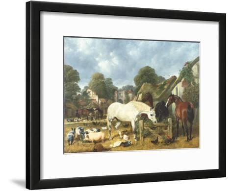 In The Paddock-John Frederick Herring I-Framed Art Print