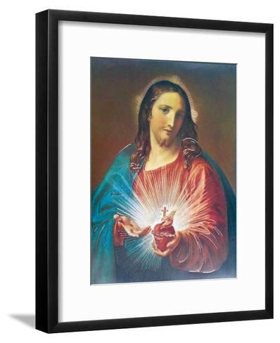 Sacred Heart of Jesus-Pompeo Batoni-Framed Art Print