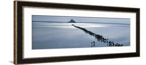 Le Mont a la Saint-Michel-Philip Plisson-Framed Art Print