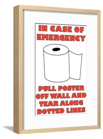 In Case of Emergency II-Russ Lachanse-Framed Art Print