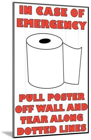 In Case of Emergency II-Russ Lachanse-Mounted Art Print