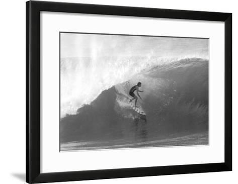 Gerry Lopez, Pipeline-Bill Romerhaus-Framed Art Print
