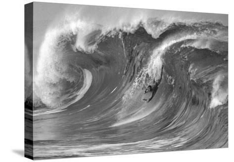 The Drop, Waimea-Bill Romerhaus-Stretched Canvas Print