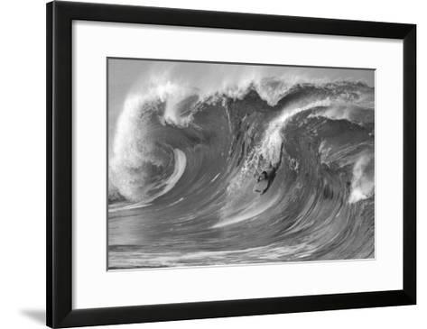 The Drop, Waimea-Bill Romerhaus-Framed Art Print