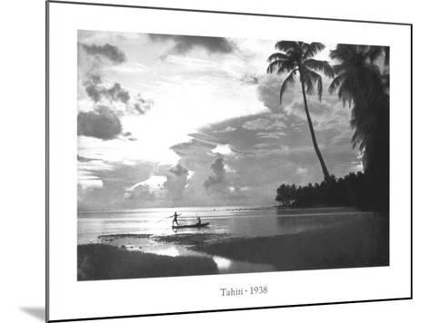 Tahiti, 1938--Mounted Art Print