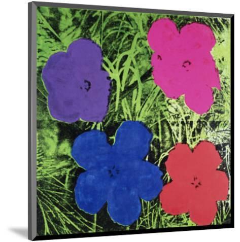 Flowers (Purple, Blue, Pink, Red)-Andy Warhol-Mounted Art Print