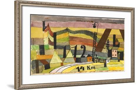 Station L 112, c.14 Km-Paul Klee-Framed Art Print