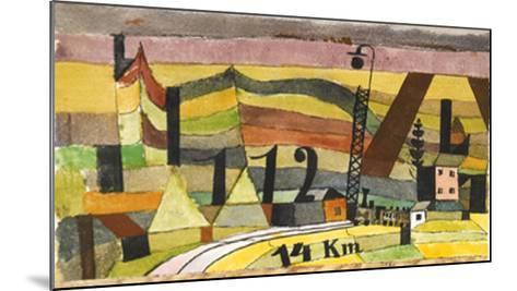 Station L 112, c.14 Km-Paul Klee-Mounted Art Print