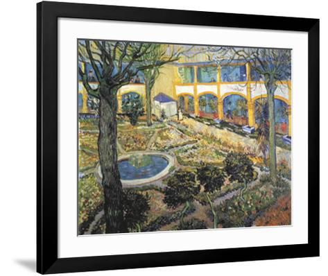 Der Garten des Maison-Vincent van Gogh-Framed Art Print