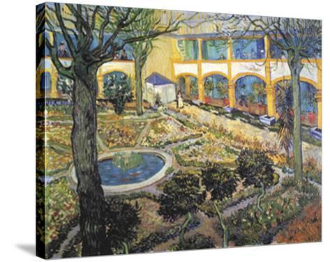 Der Garten des Maison-Vincent van Gogh-Stretched Canvas Print