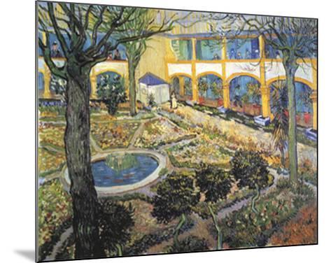 Der Garten des Maison-Vincent van Gogh-Mounted Art Print