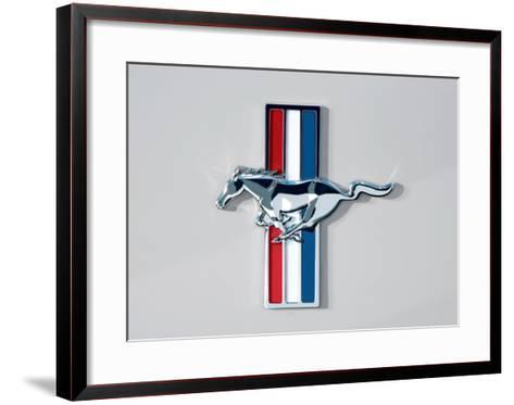 2006 Ford Mustang Horse and Bars Emblem--Framed Art Print