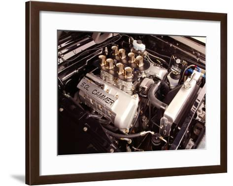1965 Mustang Fastback FR500 Engine--Framed Art Print