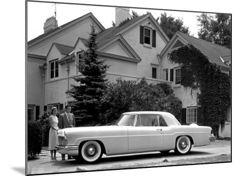 WM Clay Ford Lincoln Continental, 1955--Mounted Giclee Print