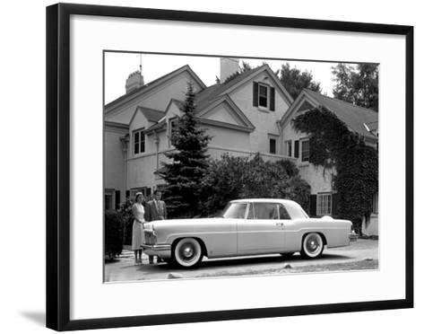 WM Clay Ford Lincoln Continental, 1955--Framed Art Print