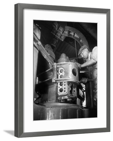 Rouge Foundry Machine Shop, 1934--Framed Art Print