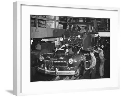 Mercury Automobile Assembly Line, 1946--Framed Art Print