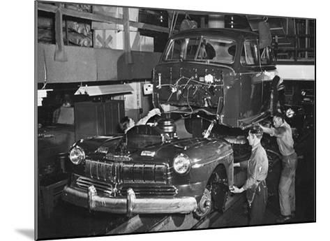 Mercury Automobile Assembly Line, 1946--Mounted Giclee Print