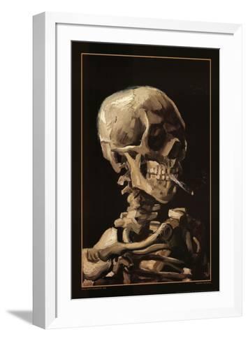Skull With Cigarette, 1885-Vincent van Gogh-Framed Art Print