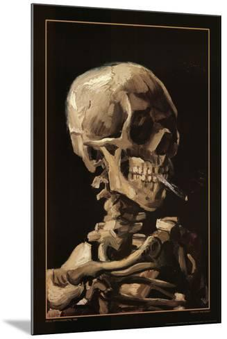 Skull With Cigarette, 1885-Vincent van Gogh-Mounted Poster