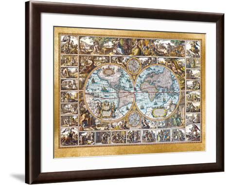 Magna Carta Mundi (Foil)-Nicolaus Ioannis Vischerius-Framed Art Print