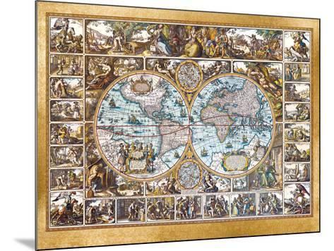 Magna Carta Mundi (Foil)-Nicolaus Ioannis Vischerius-Mounted Art Print