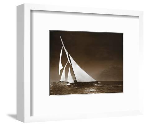 Sailing Yacht Mohawk at Sea, c.1895--Framed Art Print